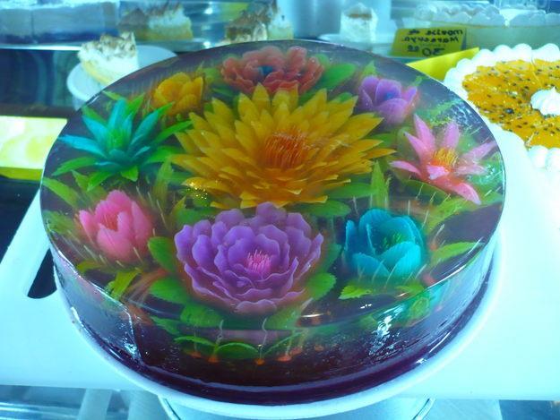 تزئین طرز تهیه ژله گلدار تزریقی و خانوم گل برترین پرتال جامع
