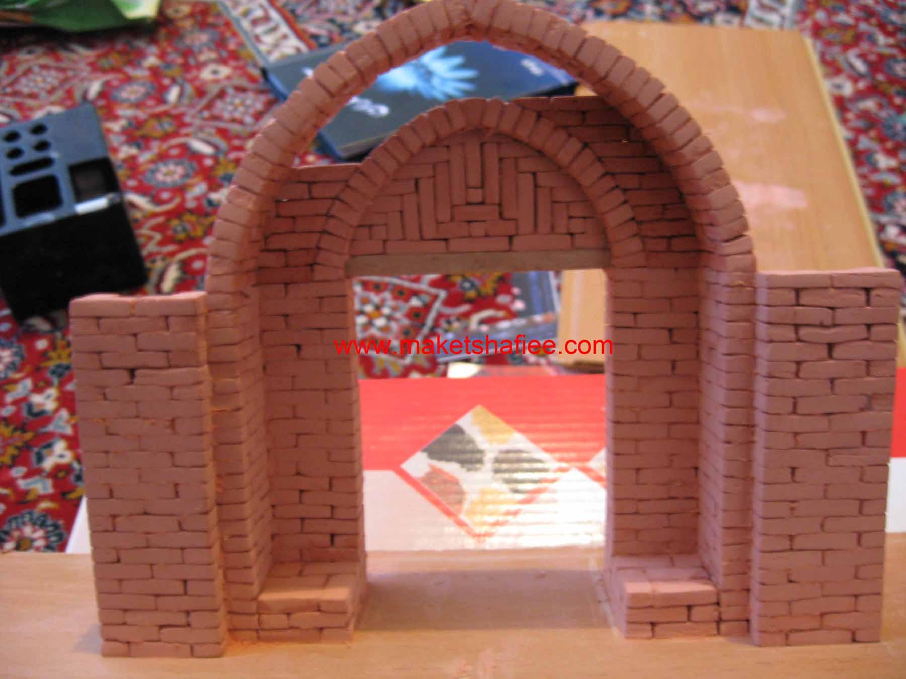 بنای تاریخی ساخت ماکت با مقوا آموزش ساخت ماکت (بناهای قدیمی ، گلی) - ماکت ها و شیت ها ...