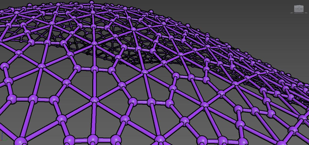 درخواست آموزش ساخت سازه فضا کار(سازه ژئودوزیک)باید طوری باشه که سازه های کششی به حالت مثلث در بیان و تشکیل یه سقف مثل این عکس رو بده :