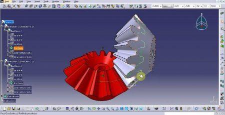 طراحی چرخ دنده مخروطی در کتیا