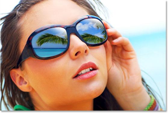 ایجاد انعکاس تصویر در عینک