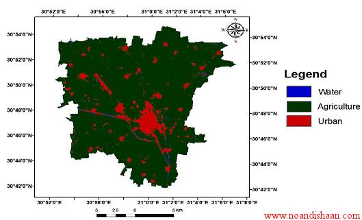 تشخیش رشد و توسعه شهر با GIS