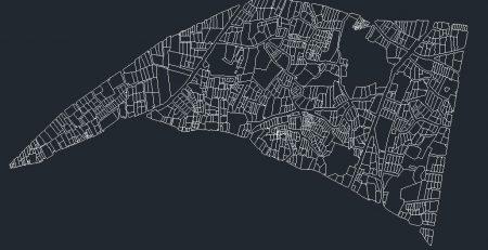 نقشه اتوکد محله دزاشیب