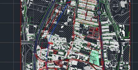نقشه اتوکد محله ده ونک