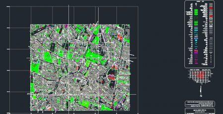 نقشه اتوکد محله چیذر