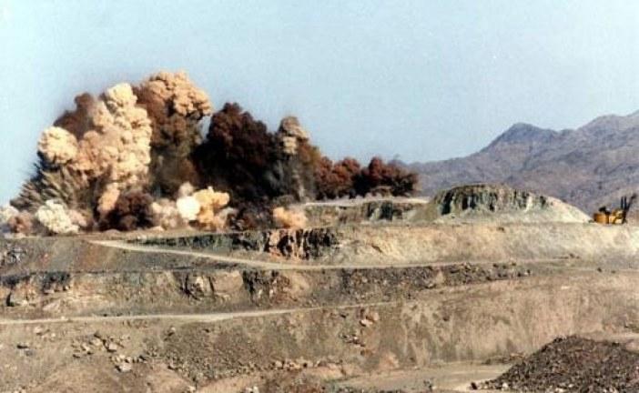 پایان نامه مهندسی معدن (بررسی سیستم آتشباری معدن بالاست همدان)