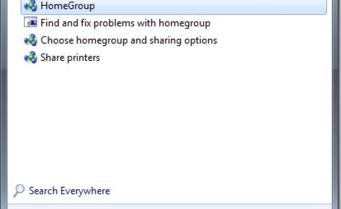 اشتراک سریع فایل بین سیستم ها از طریق home group در ویندوز 7