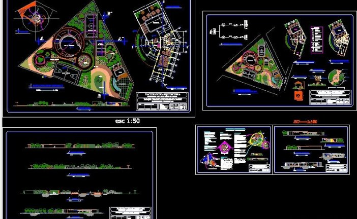 دانلود نقشه های یک پارک محله ای