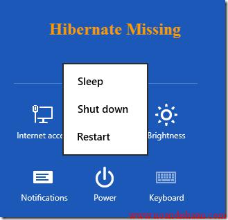 hibernate در ویندوز 8