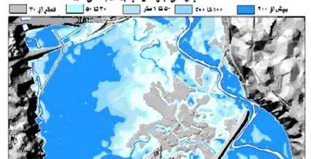 نقشه پهنه بندی سیلاب