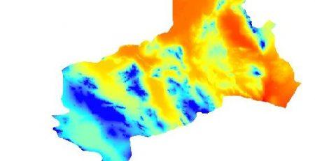 نقشه dem استان یزد