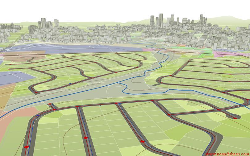 دانلود پروژه GIS مکان یابی مناطق مناسب برای ایجاد فضای سبز در منطقه آزادشهر یزد