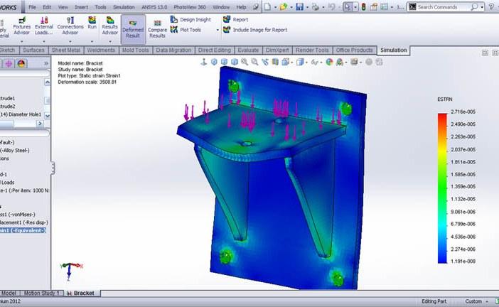 تحلیل المان محدود با Solidworks Simulation