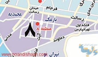 نقشه تهرانپارس