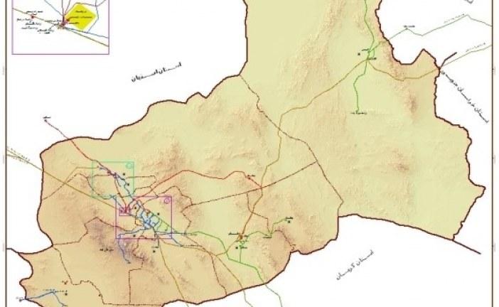 نقشه GIS استان یزد