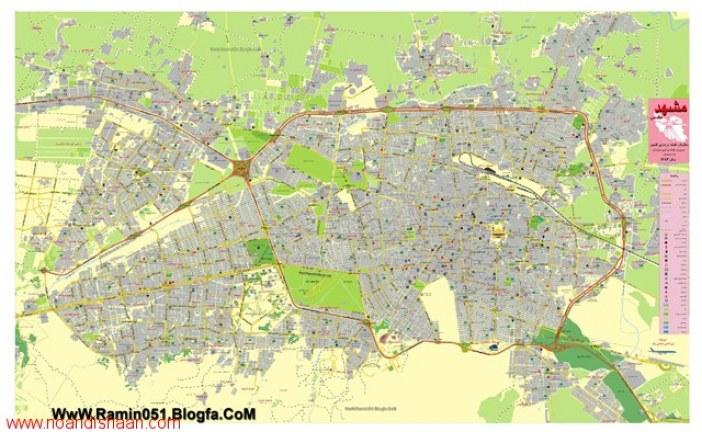 دانلود برنامه ریزی تفصیلی کاربری زمین شهر مشهد