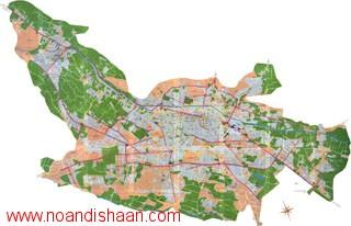 نقشه منطقه 8 شیراز