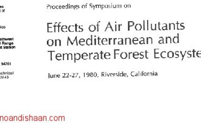 دانلود رایگاه کتاب لاتینProceedings of Symposium on Effects of air pollutants on mediterranean forest ecosystems «مجوعه مقالات همایش ها در مورد اثرات آلاینده های هوا بر روی اکوسیستم های جنگلی