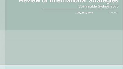 طرح Sydney 2030 strategic