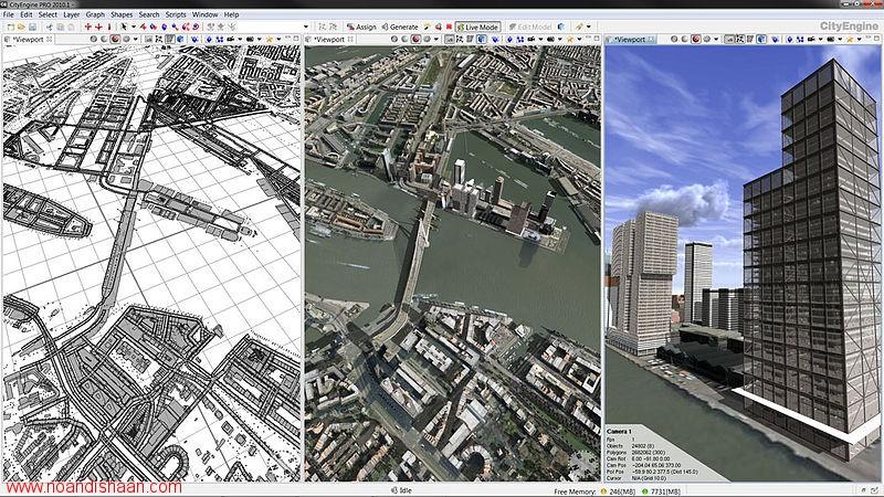 نرم افزار CityEngine