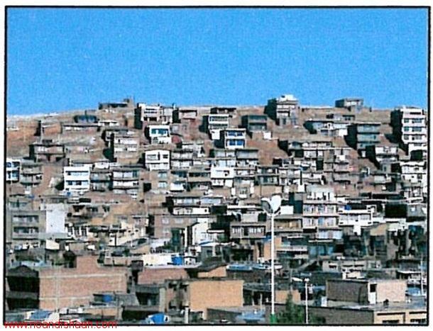 بافت شهری مهاباد