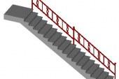 روش ترسیم مقطع (برش) راه پله های مختلف