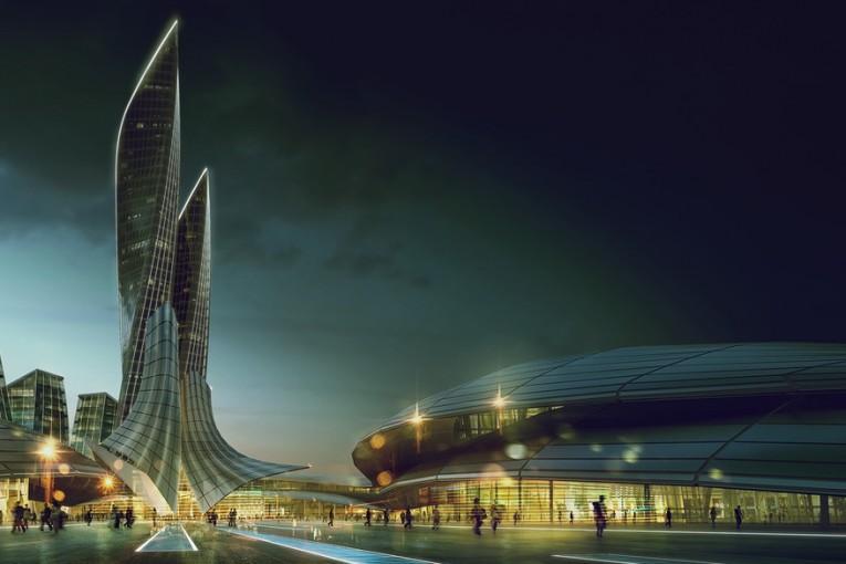 رندرگیری صحنه معماری در شب