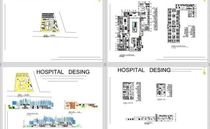 نقشه کد پروژه بیمارستان چشم | طرح معماری 4