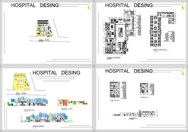 نقشه کد پروژه بیمارستان