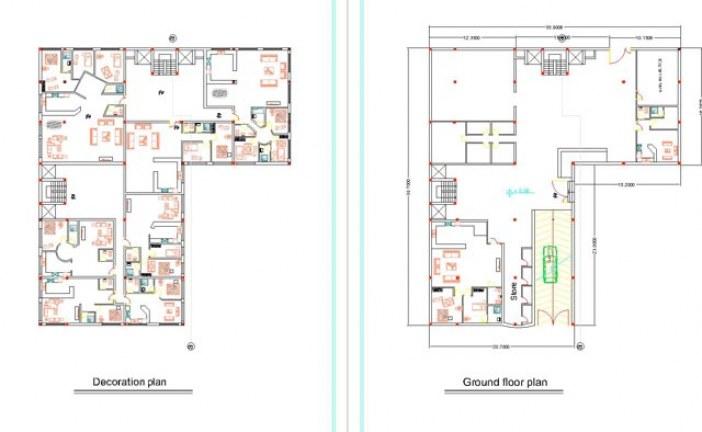 دانلود نقشه کد پروژه مجتمع مسکونی   طرح معماری 5