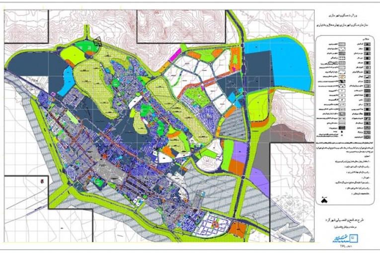 نقشه کد طرح تفصیلی شهرکرد