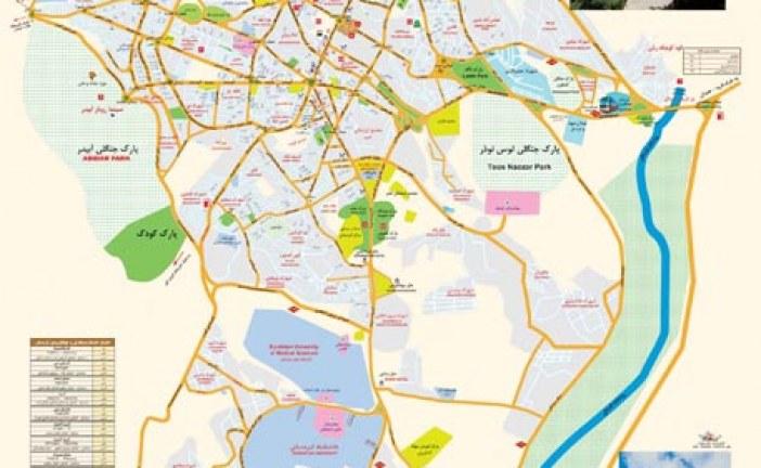 نقشه کد طرح جامع گردشگری سنندج (DWG)