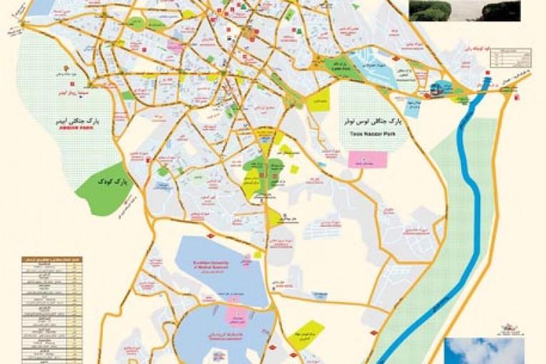 نقشه کد طرح جامع گردشگری