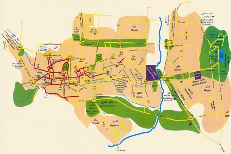 نقشه کد کرمانشاه