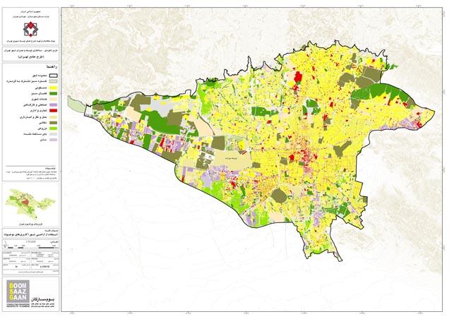 نقشه GIS کاربری اراضی تهران