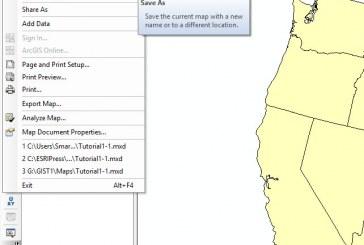 ذخیره نمودن سند در GIS | آموزش ArcGIS (قسمت دوم)