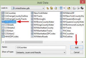 اضافه کردن لایه ها در ArcGIS
