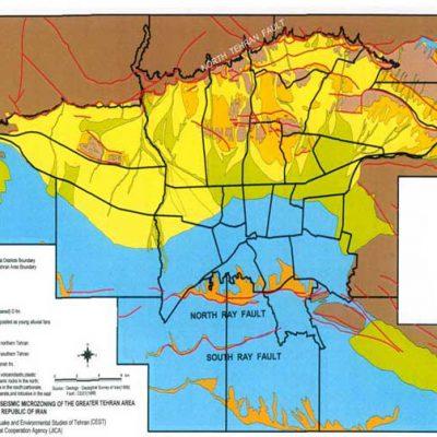 نقشه GIS زمین شناسی