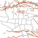 نقشه GIS گسل های تهران