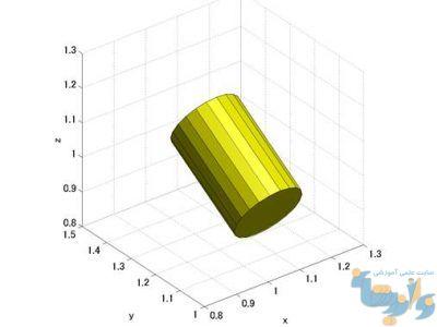 رسم استوانه با cylinder