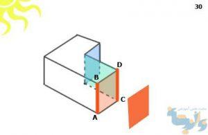 آموزش رسم سایه حجم در پرسپکتیو