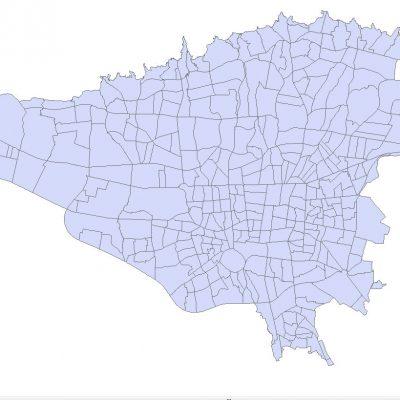 نقشه GIS محله بندی تهران