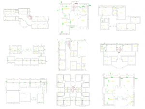 مجموعه ۱۱ پلان معماری مدرسه با فرمت اتوکد
