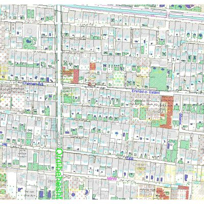 نقشه اتوکد اصفهان