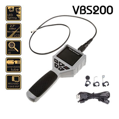ویدئوبروسکوپ VBS200 ویژن با پراب یک متر و قطر ۸ میلیمتر
